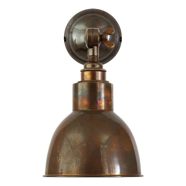 Churchill Wall Light Metal Shades Old School Electric Adjustable Wall Light Vintage Wall Lights Vintage Wall Sconces