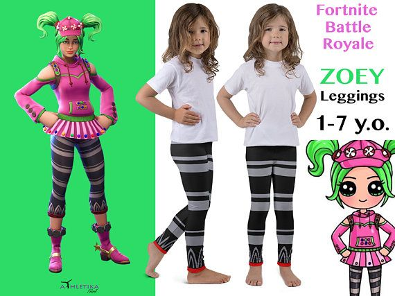 Zoey Leggings Cosplay Kids Hero Toddler Youth Video Game Character