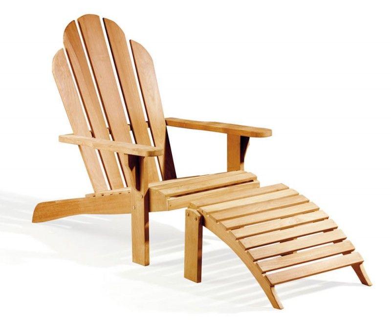 Adirondack Chair Teak Wood With Leg Rest Teak Adirondack Chairs Deck Chairs Teak Garden Furniture