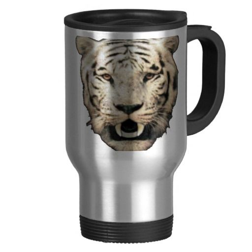 White Tiger Face Png Travel Mug Zazzle Co Uk White Tiger Tiger Face Animal Tshirt