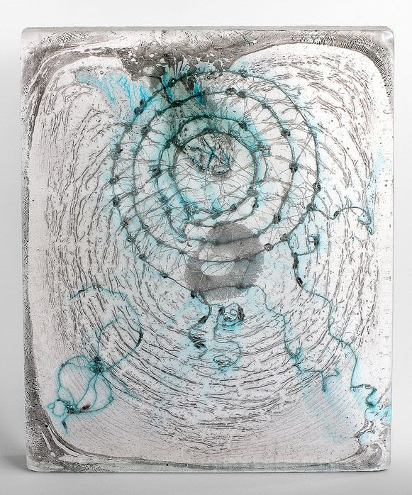 W S S S RSCHN| | Julie Alland kiln cast glass with wire and graphite ...