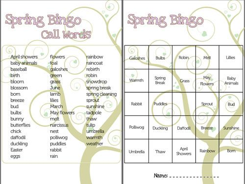graphic regarding Spring Bingo Game Printable named Spring Bingo Activity Printable NC Jobs Bingo video games
