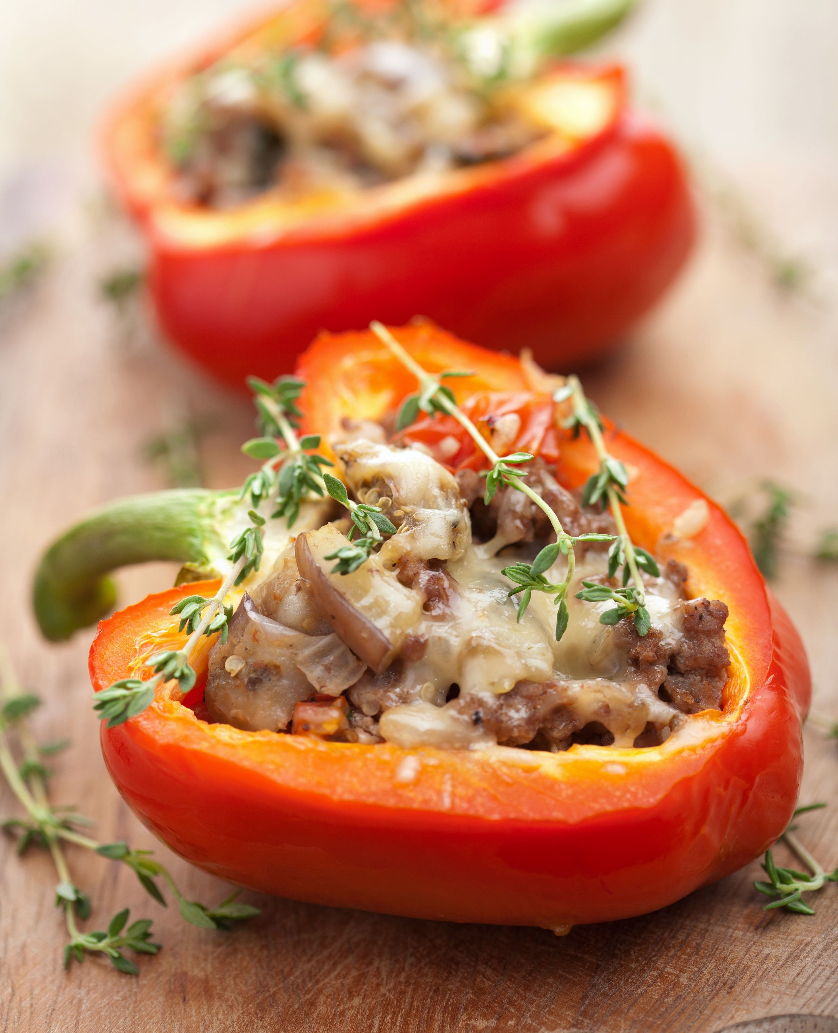 Stuffed Green Peppers Recipe Stuffed Peppers Mince Beef Recipes