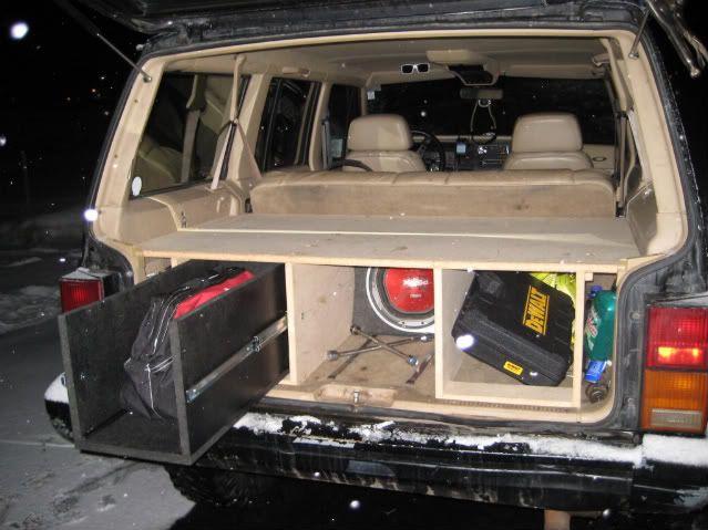 96 Jeep Storage In Back Jeep Xj Jeep Xj Mods Jeep Cherokee