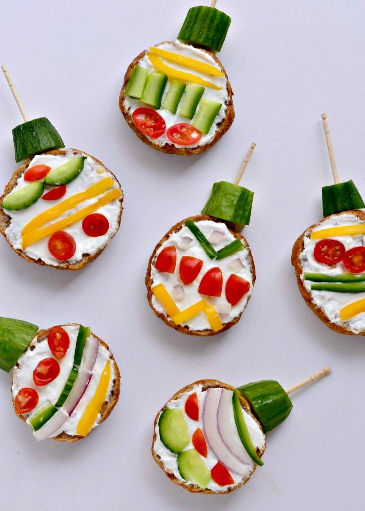 Mini Bagel Christmas Ornaments - Fork and Beans