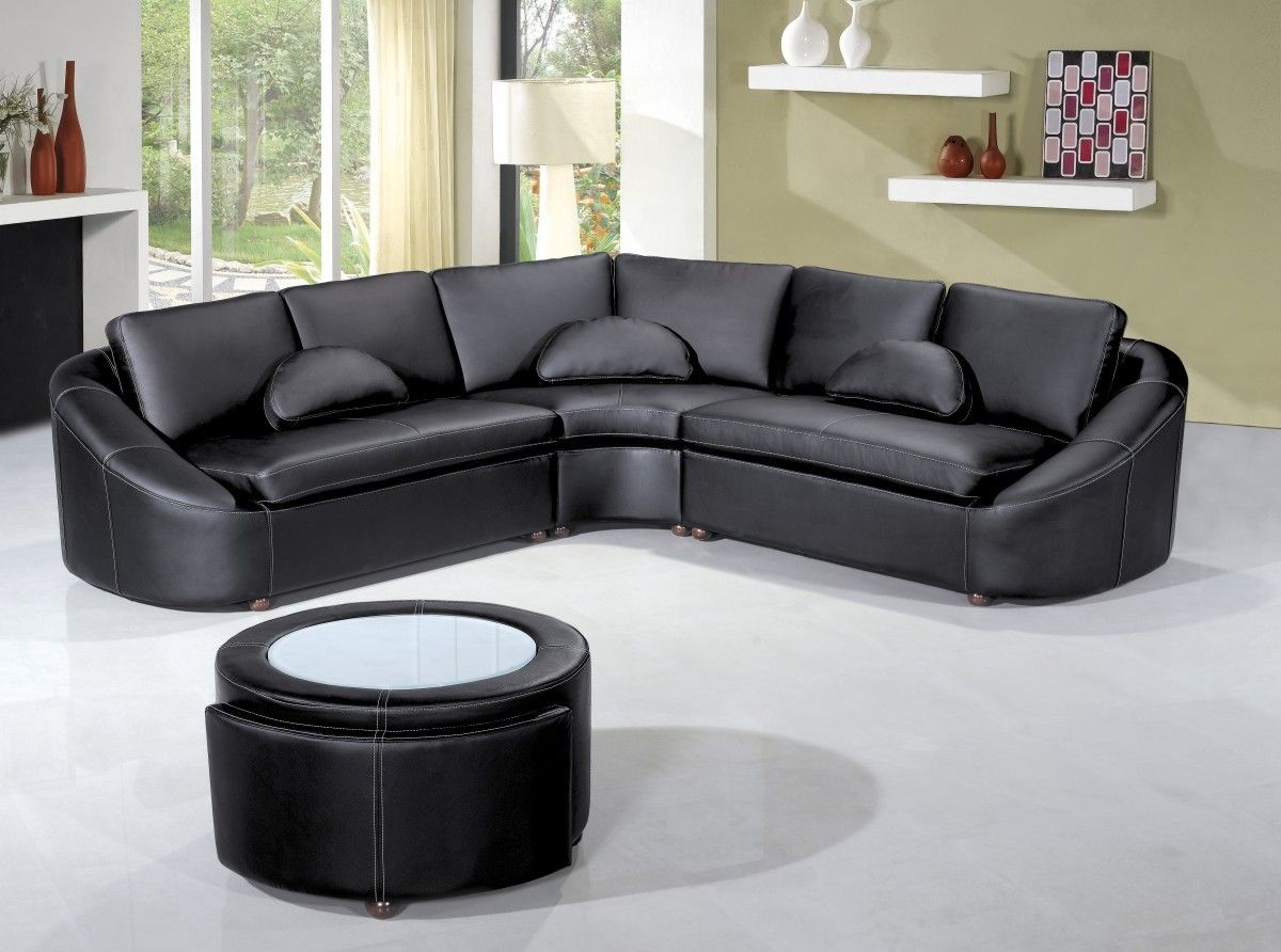 Peach, Light Turquoise, Yellow, Light Mauve Or Light Green Are Good Colors  For Your Walls And Will Soften The Black Leather Furniture Effects.