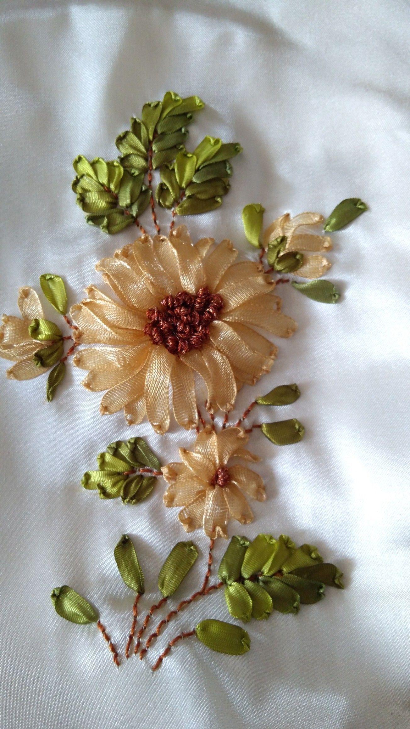 Training ribbon embroidery sewing ribbon flowers salvabrani – Artofit #ribbonflower