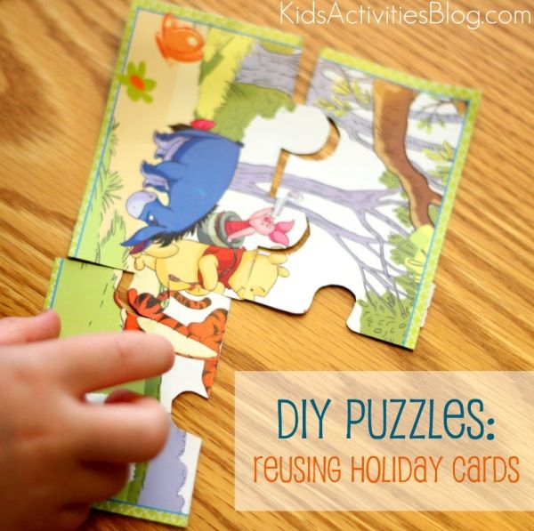 Make a Puzzle: Reuse Holiday Cards