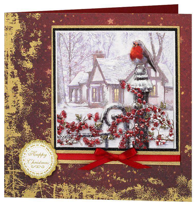Kit Die Cut Mini Navidad Robins X 5 Brillo