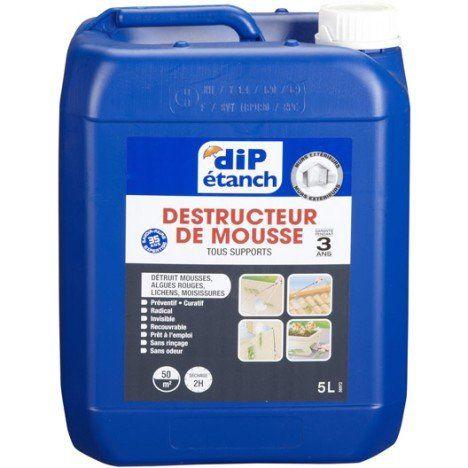 Traitement Antimousse Dip Incolore 5 L Nettoyage Facade Traitement Etancheite