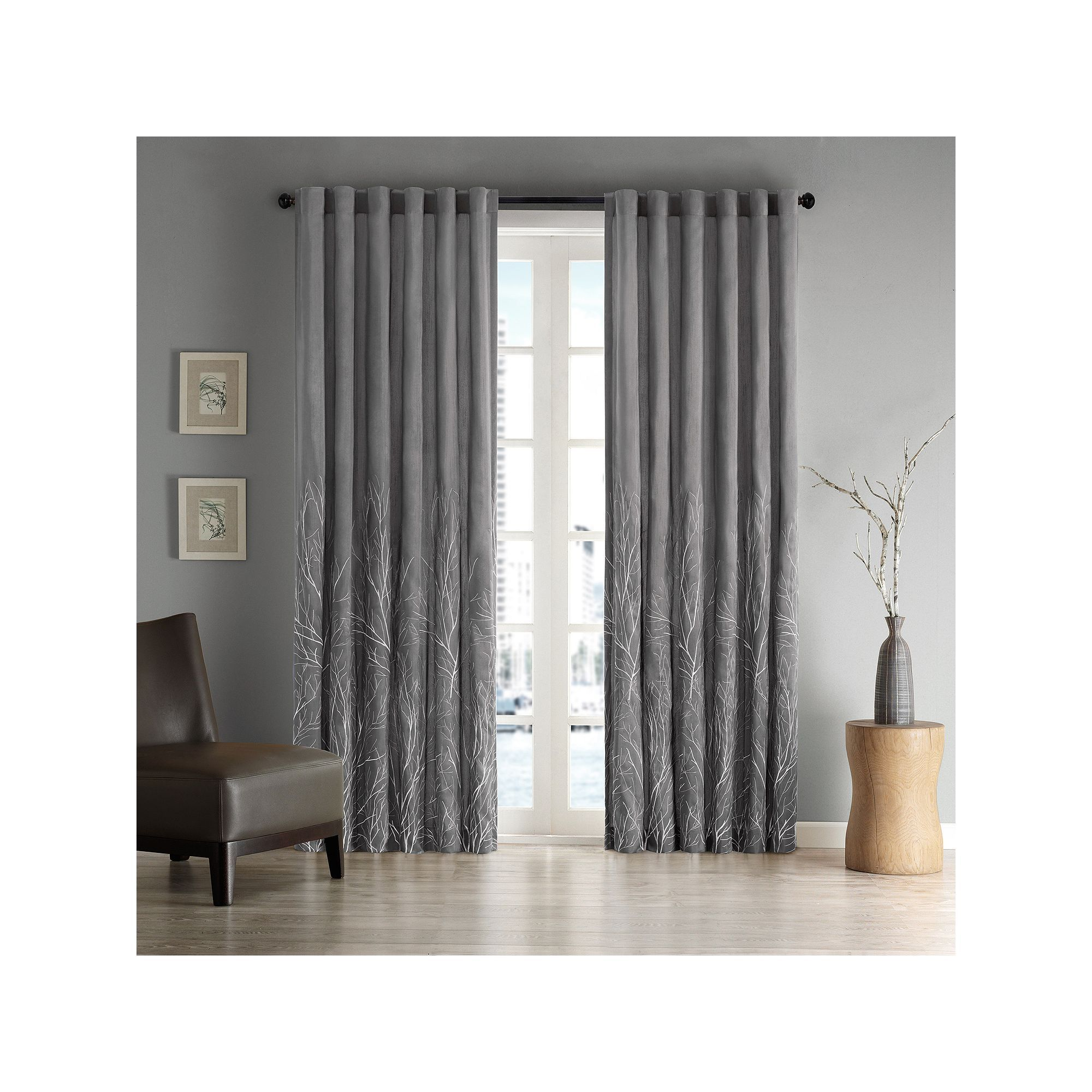 Madison park eliza embroidered window curtain blue navy products