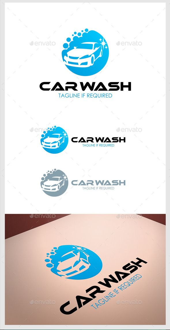 Car Wash Logo Ai Illustrator Coreldraw Cdr Resizable Cs Auto