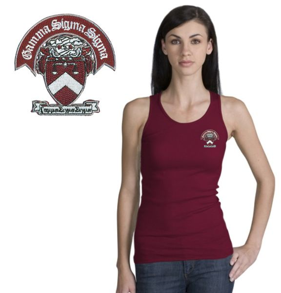Gamma Sigma Sigma Crest Emblem Tank Top