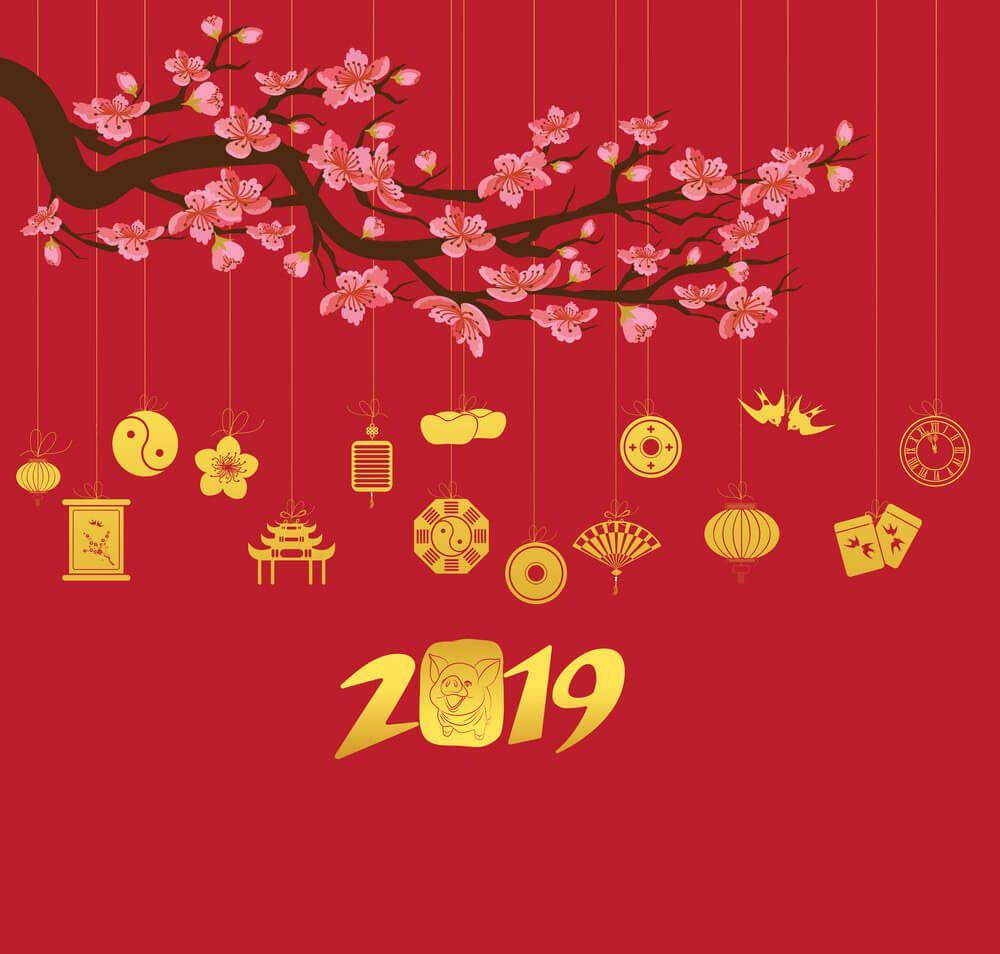 Thiệp chúc mừng năm mới Happy new year 2019 đẹp số 9