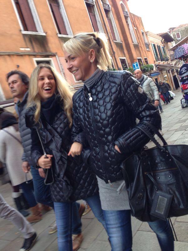 Giorgia Marin and mom in Venice city.