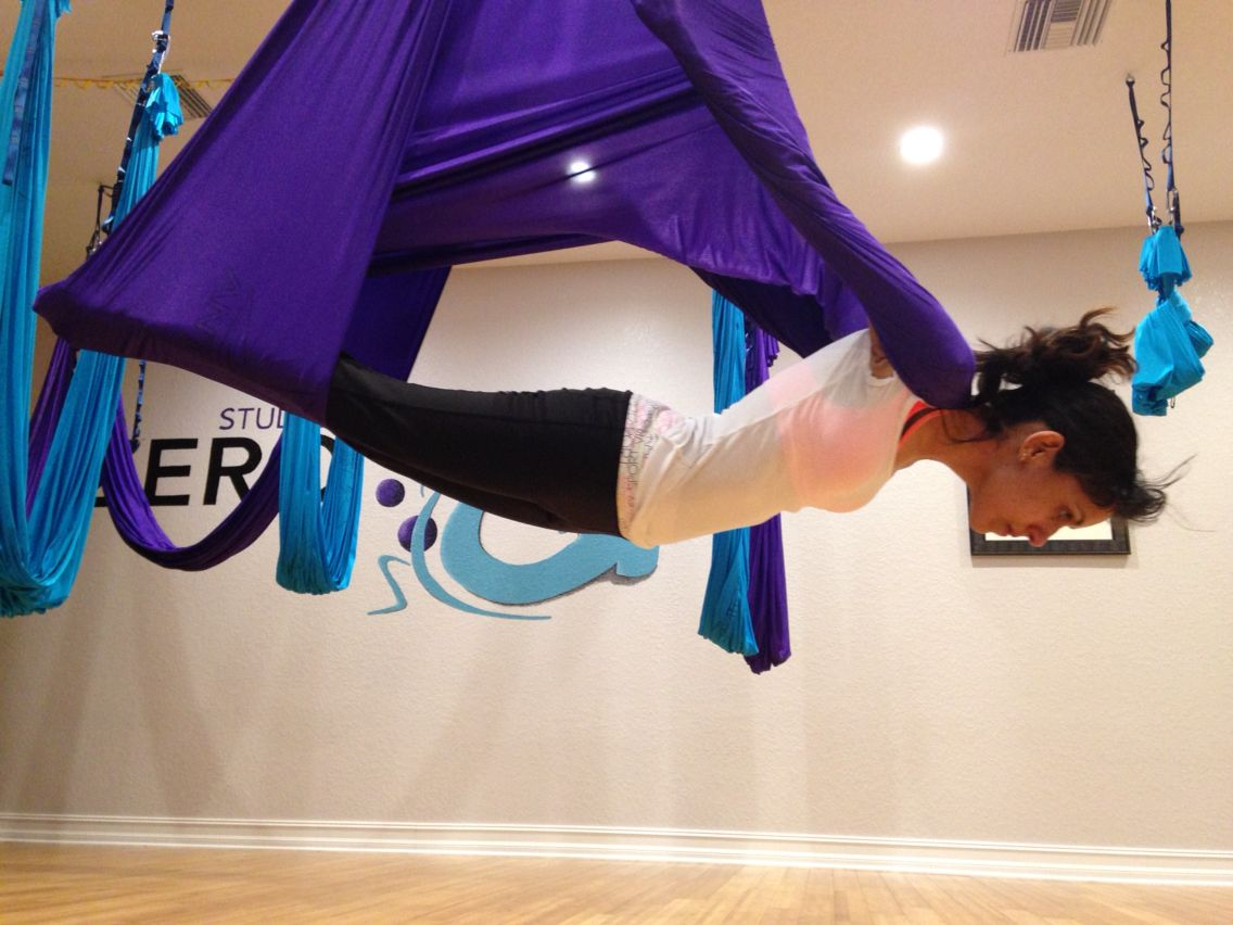 Aerial Yoga Vampire Pose Fitness Aerial Yoga Yoga Workout