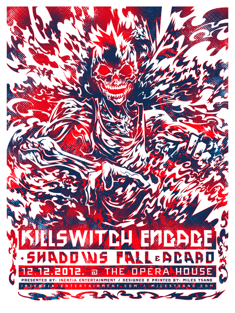 INSIDE THE ROCK POSTER FRAME BLOG: Killswitch Engage Poster by Miles ...