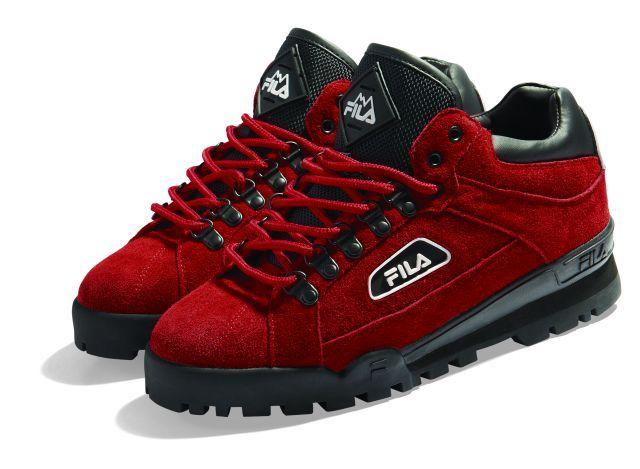 950be5f824a4 Fila Trailblazer. Red suede.