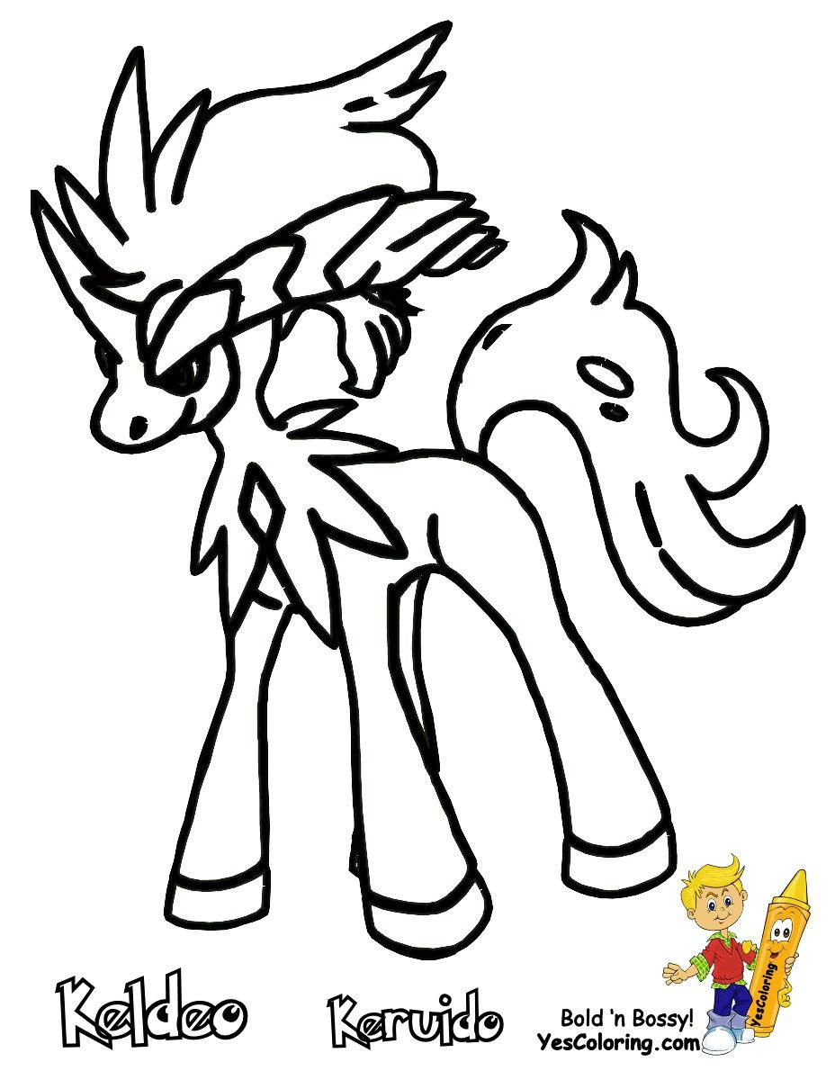 Pokemon Coloring Pages Keldeo Pokemon Coloring Pages Pokemon