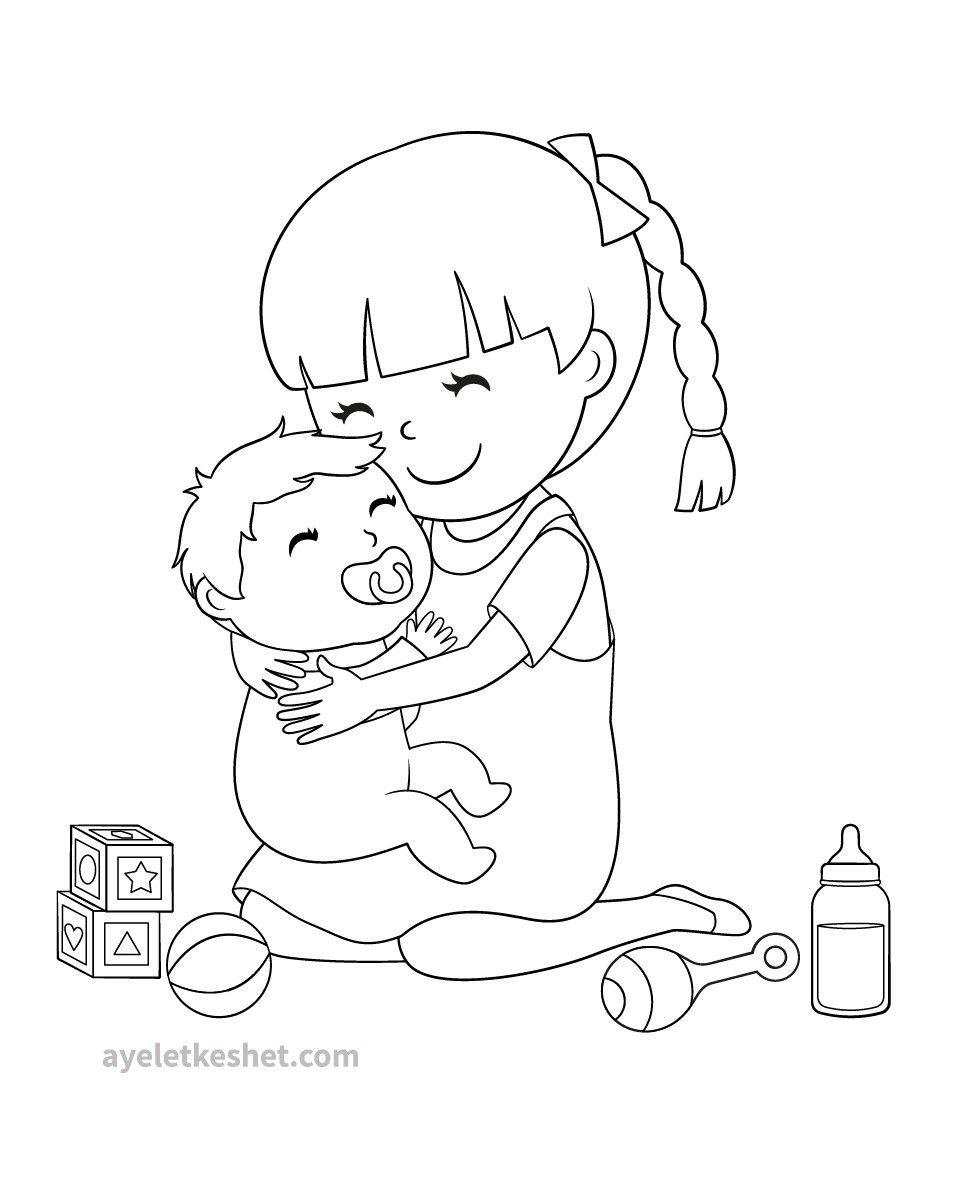 Free coloring pages about family that you can print out
