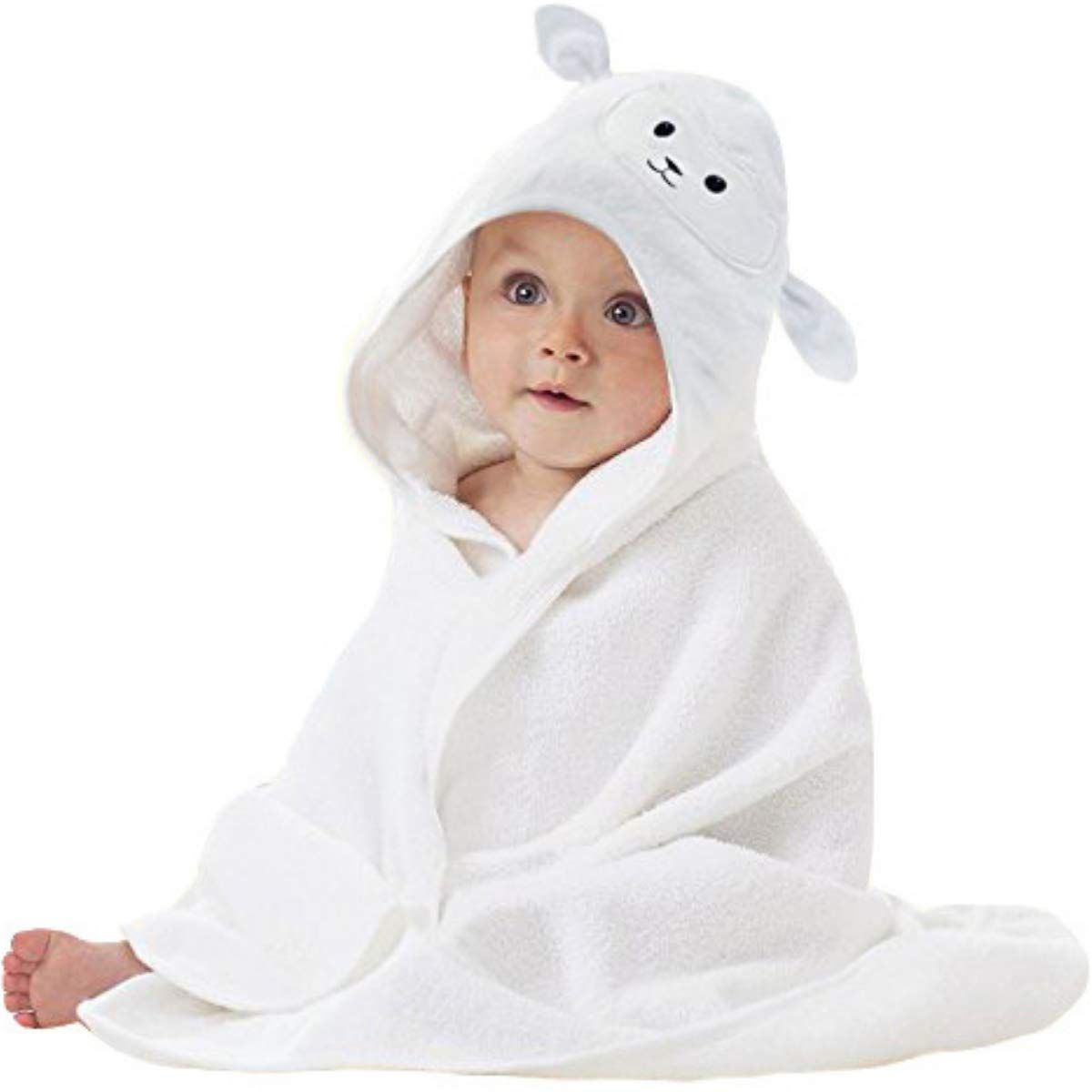 Baby Animal Face Hooded Towel In 2020 With Images Hooded Baby