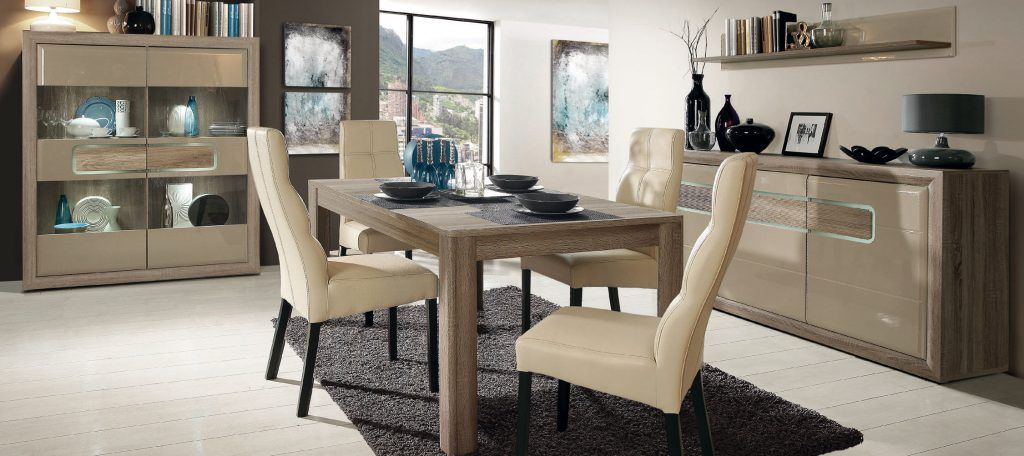 Sal n comedor moderno 1070 s2 muebles casanova for Muebles comedor modernos