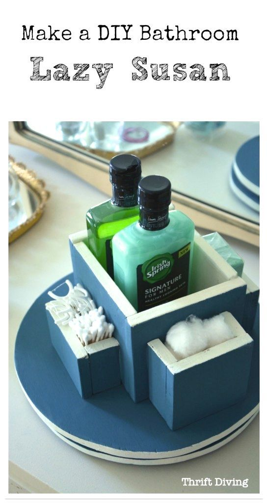 Perfect Beat The Stink With This Bathroom DIY Lazy Susan