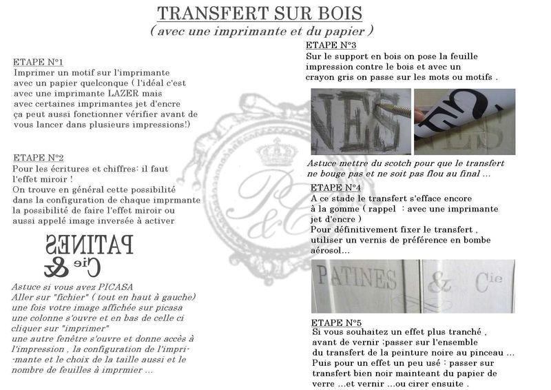 Petit meuble à musique , tuto transfert et news - Patines \ Cie - Poser Papier A Peindre