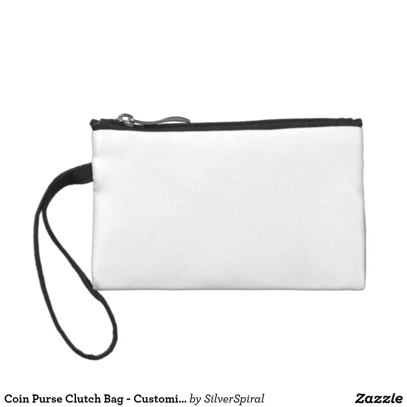 coin purse clutch bag customized template blank art fabric