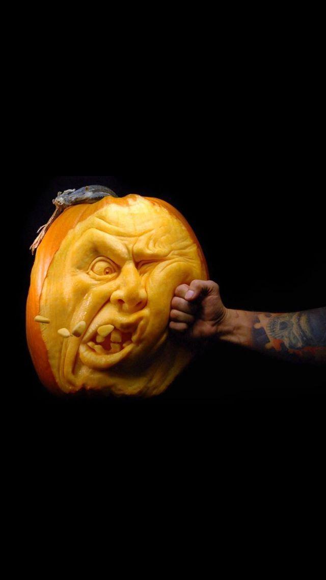 Carved pumpkin humor!! lol