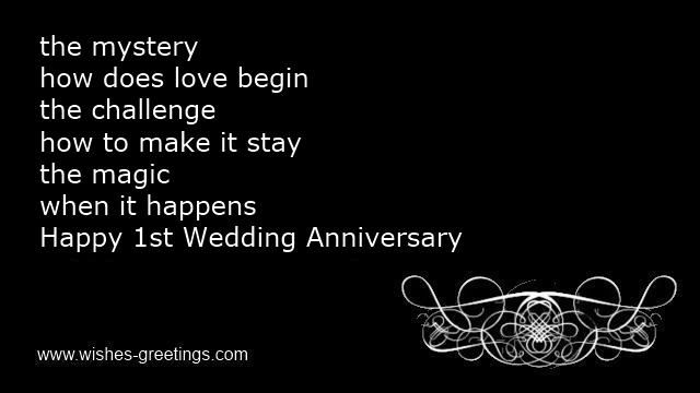 First wedding anniversary poems husband year marriage