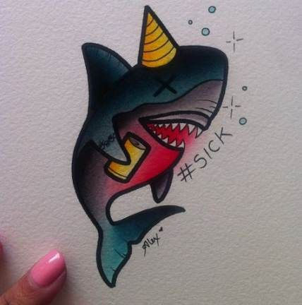 35 Trendy Tattoo Old School Shark Awesome