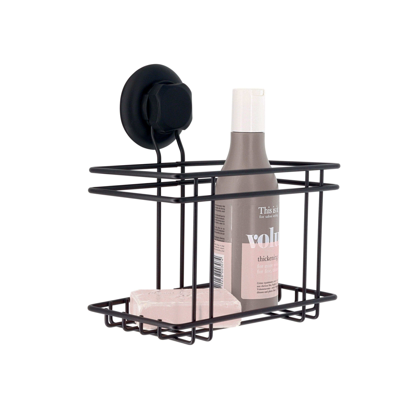 Panier de bain / douche à ventouse, noir, Bestlock black COMPACTOR