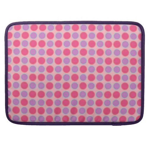 Pink Vintage Trendy Dotted Design Laptop Case
