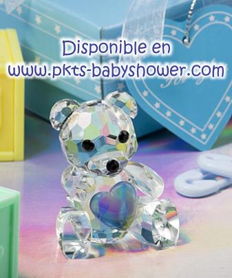 639b4b497a2b Recuerdos para Baby Shower - Osito Azul de Cristal Cortado - Disponible en  www.pkts-babyshower.com