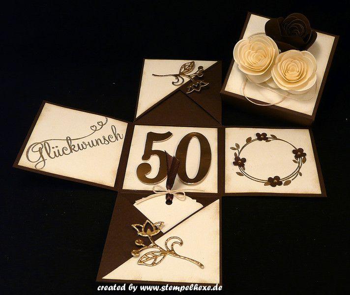 Geldgeschenke Box Zur Goldenen Hochzeit Geld Geschenk Ein Designerstuck Von Geschenke Geschenke Verpacken Goldene Hochzeit