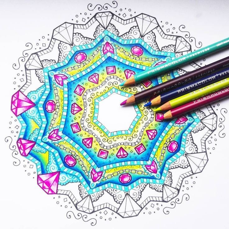 What S Your Favourite Thing To Colour I Quite Like Mandalas Because I Feel Like I Can Use Really Nice Colour Combos With N Really Cool Stuff Color Me Mandala