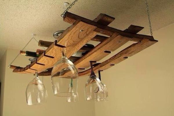 Pallet Ceiling Wine Glass Rack Hanging Wine Glass Rack Hanging Wine Rack Wine Barrel Furniture