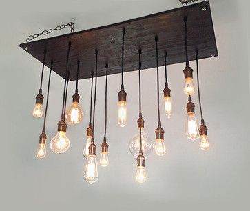 Modern Chandelier With Oil Rubbed Bronze Sockets Contemporary