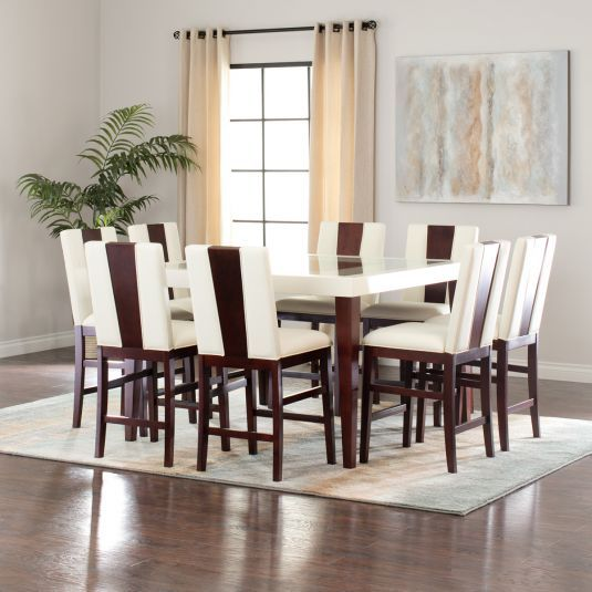 The Zeno Counter Height Dining Set Is Designed To Catch The Eye