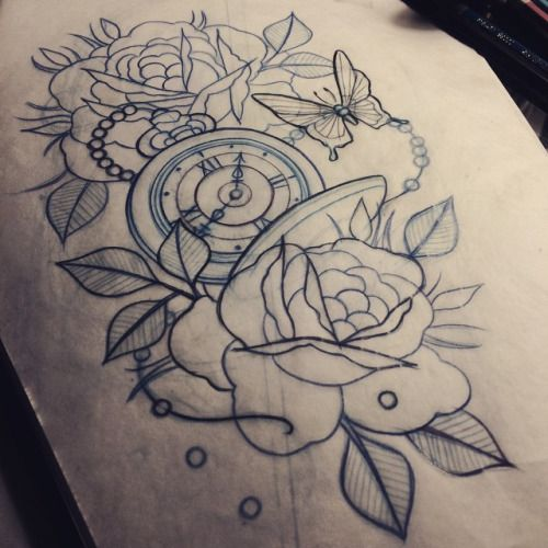 traditional pocket watch tattoo - Google Search | Tattoos ...