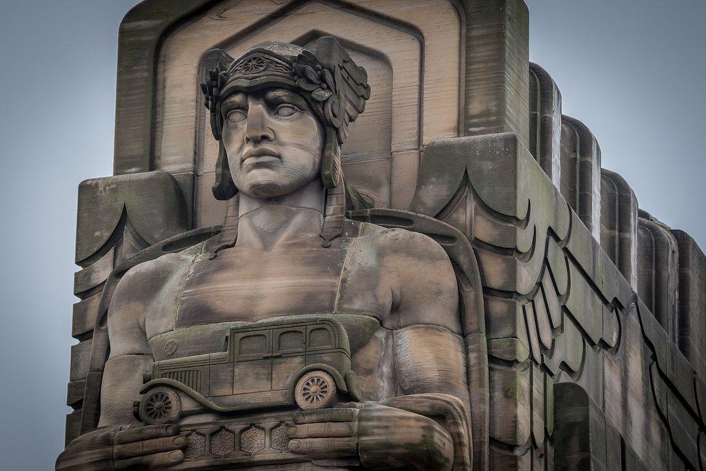 Hope Memorial Bridge Guardians Of Traffic Art Deco Architecture Art Vintage Pics