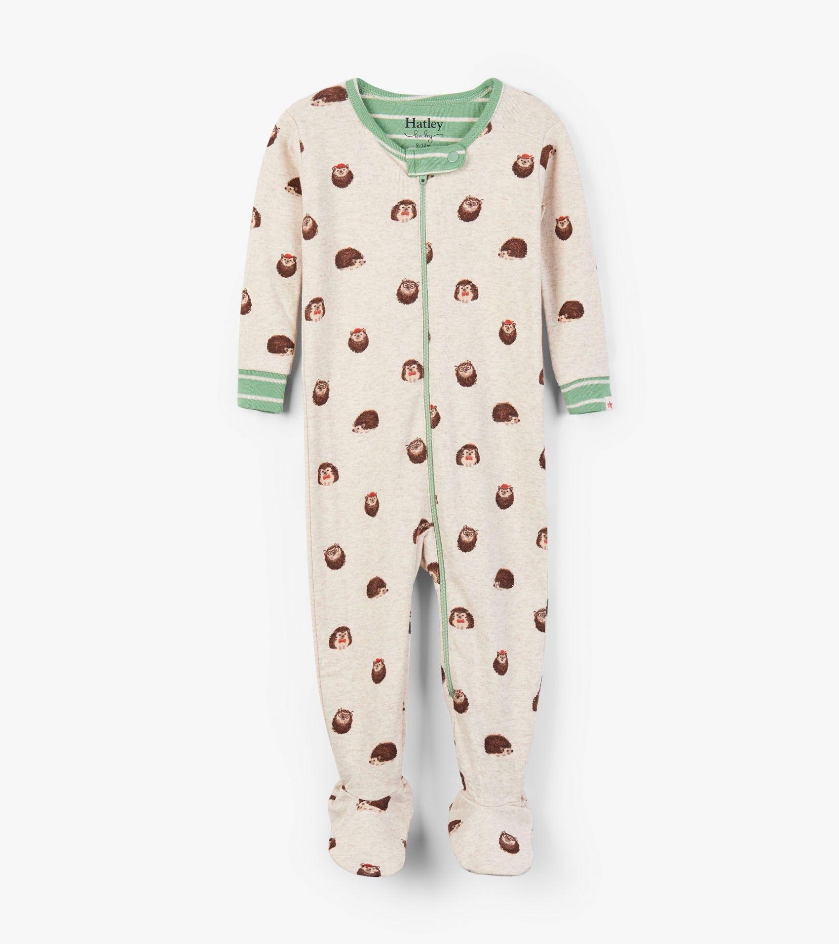 77a7bfad47ff Huggable Hedgehogs Organic Cotton Footed Coverall - Sleepwear ...