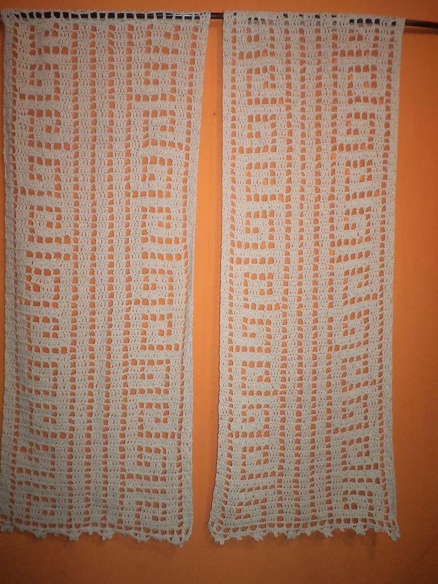 Tejidos crochet cortinas caminos alfombras mantas etc - Puntillas para cortinas ...