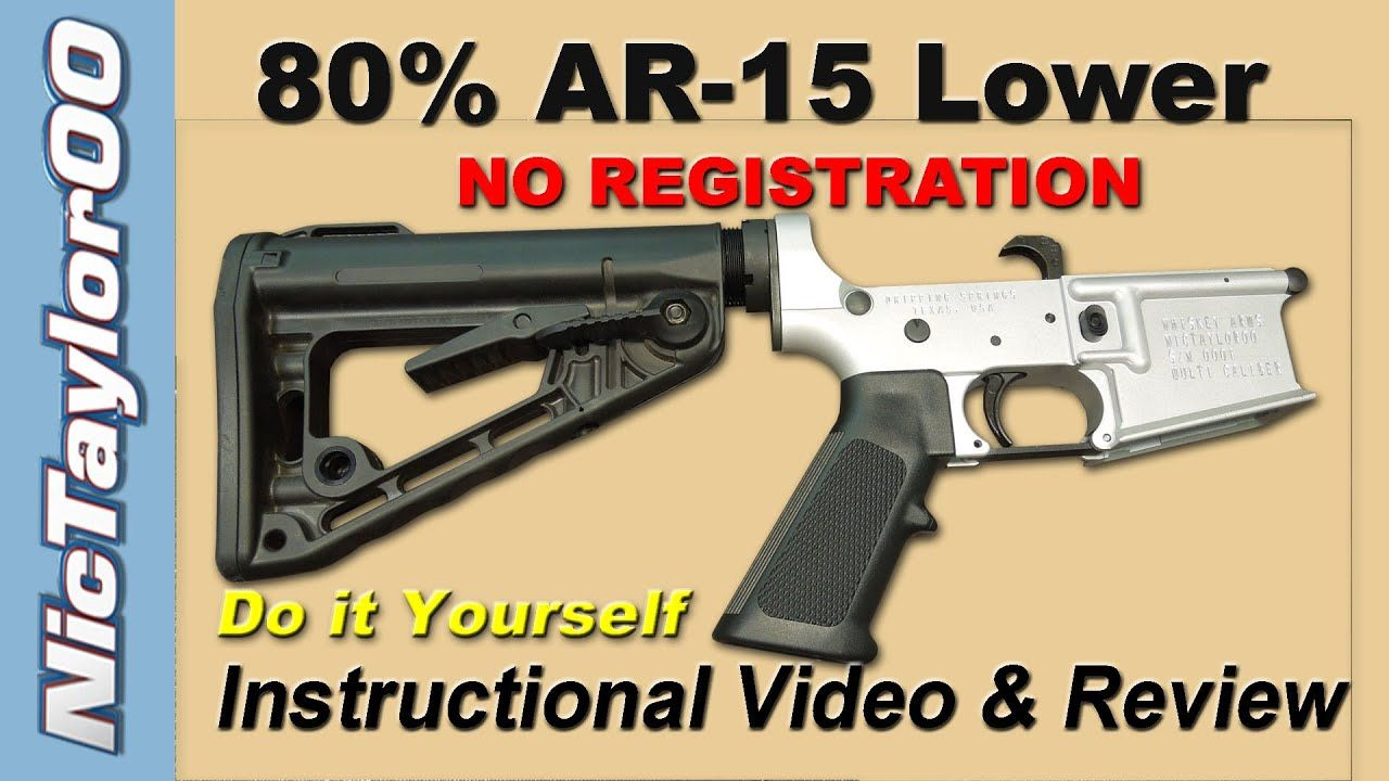Assault Weapon Kit – The 80% AR-15 Lower Do it Yourself