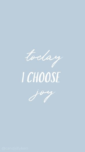 Today I choose joy typography inspirational motivational quote blue purple background wallpaper ...