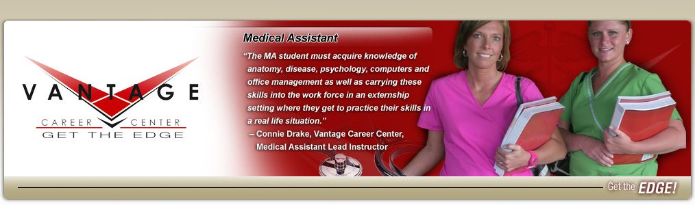 Medical assistant picture for brochure vantage career