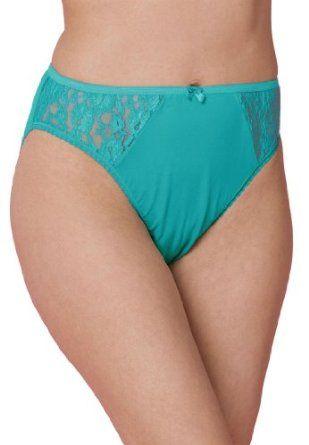 fc5e5da1e Comfort Choice Plus Size High Cut Panty (Light Jade