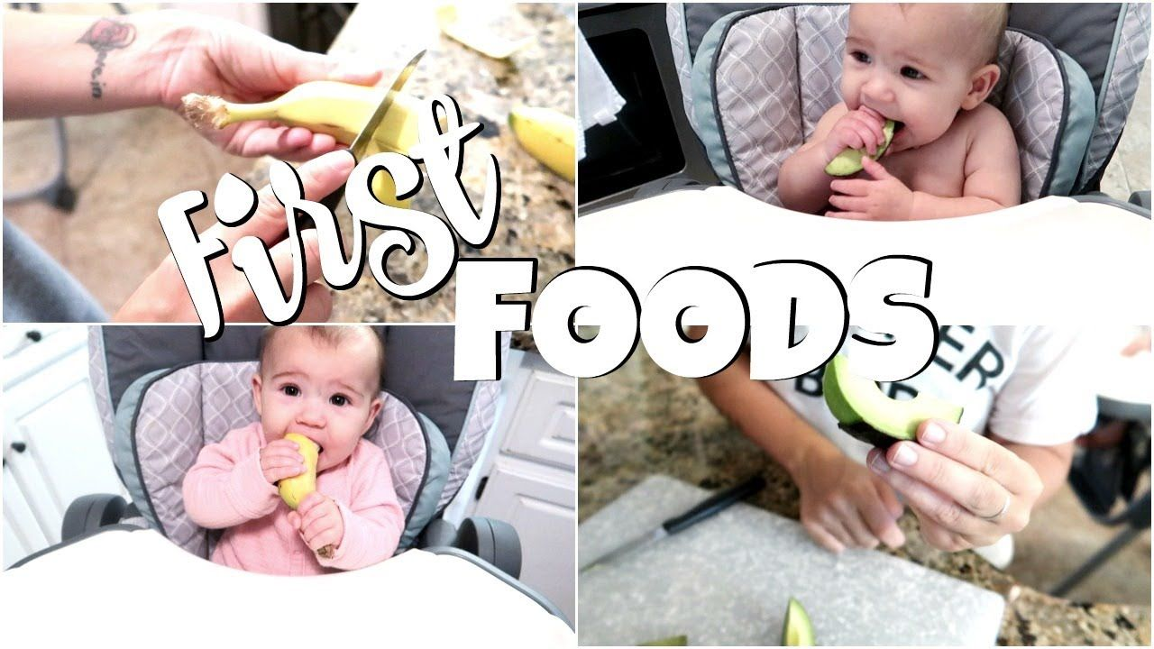 Baby led weaning first foods at 6 months old youtube