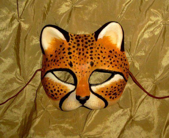 Cheetah Mask Custom Made 4 U for Renaissance Masquerade Punk Goth ...